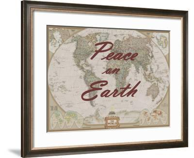 Peace on Earth - World Map-National Geographic Maps-Framed Art Print