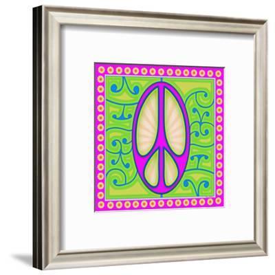 Peace sign (purple)-Kem Mcnair-Framed Art Print