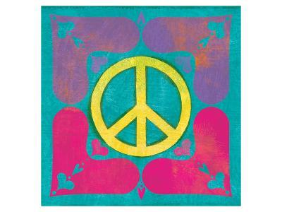Peace Sign Quilt III-Alan Hopfensperger-Art Print