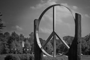 Peace Sign Woodstock Hall of Fame Plastic Sign