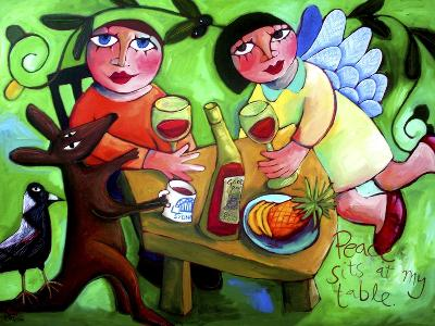 Peace Sits at My Table-Sara Catena-Giclee Print