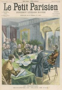 Peace the Peace Treaty is Signed in Pretoria by Christiaan de Wet and Kitchener