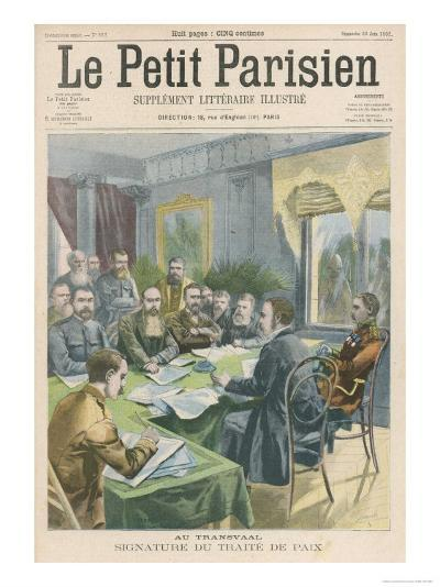 Peace the Peace Treaty is Signed in Pretoria by Christiaan de Wet and Kitchener--Giclee Print