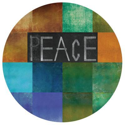 Peace Within - Circular Silver Canvas Giclee Printed on 2 - Wood Stretcher Wall Art
