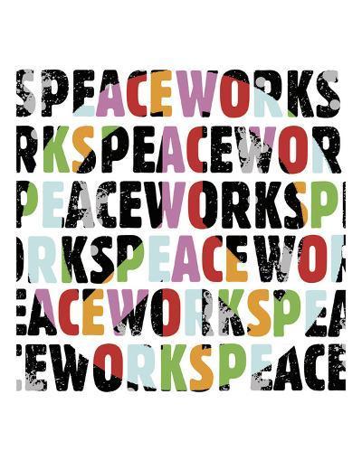 Peace Works (white)-Erin Clark-Art Print
