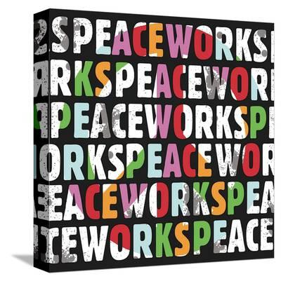 Peace Works-Erin Clark-Stretched Canvas Print