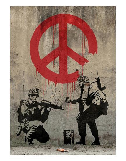 Peace-Banksy-Art Print