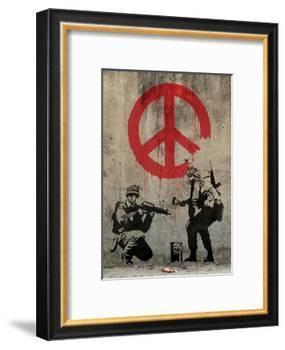 Peace-Banksy-Framed Art Print