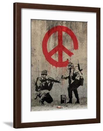 Peace-Banksy-Framed Giclee Print