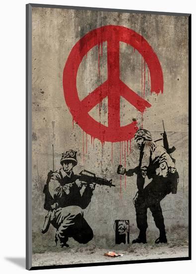 Peace-Banksy-Mounted Giclee Print