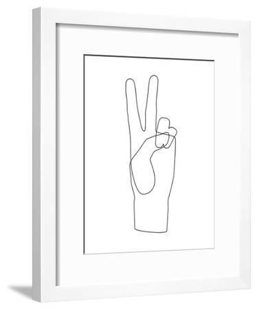 Peace-Explicit Design-Framed Art Print