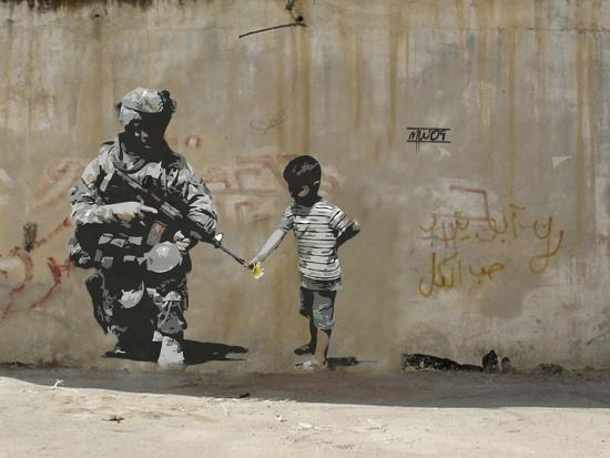 Peace-Banksy-Premium Giclee Print