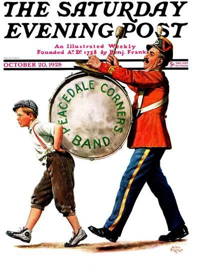 """Peacedale Corners Band,"" Saturday Evening Post Cover, October 20, 1928-Alan Foster-Giclee Print"