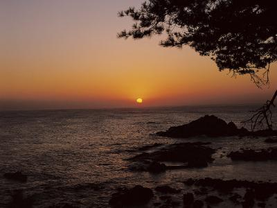 Peaceful and Beautiful Sunset over a Sea--Photographic Print