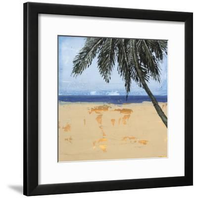 Peaceful Beach 3-David Dauncey-Framed Premium Giclee Print