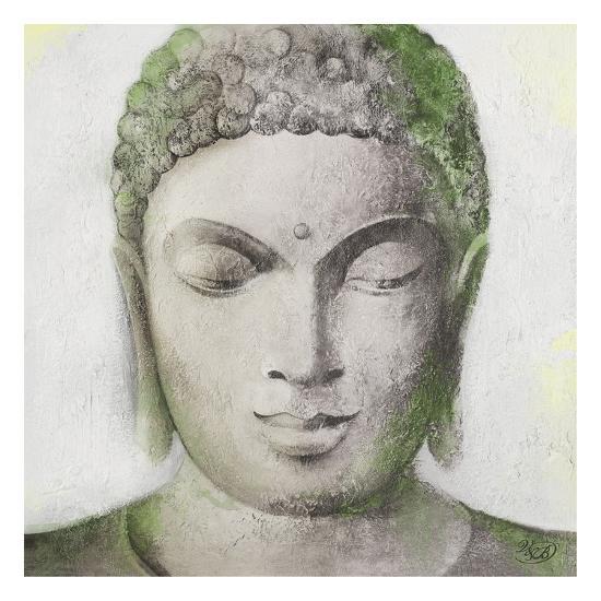 Peaceful Buddha Green-Unknown Unknown-Art Print