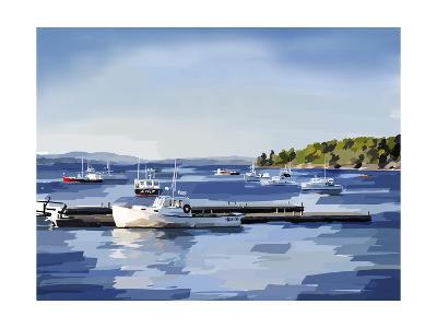 Peaceful Harbor II-Emily Kalina-Art Print