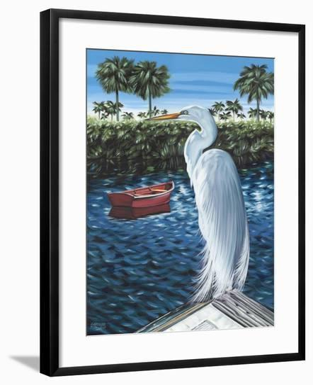 Peaceful Heron II-Carolee Vitaletti-Framed Art Print