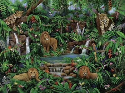 Peaceful Jungle-Betty Lou-Giclee Print