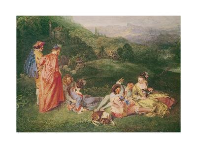 Peaceful Love, C.1718-19-Jean Antoine Watteau-Giclee Print