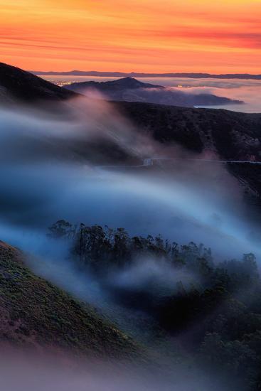 Peaceful Mood Fog Sweeps Marine Headlands, Northern California-Vincent James-Photographic Print
