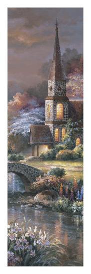 Peaceful Reflections Panel II-Alma Lee-Art Print