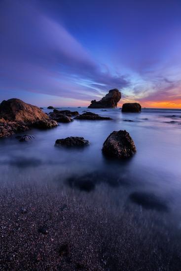 Peaceful Seascape After Sunset, Sonoma Coast, California-Vincent James-Photographic Print