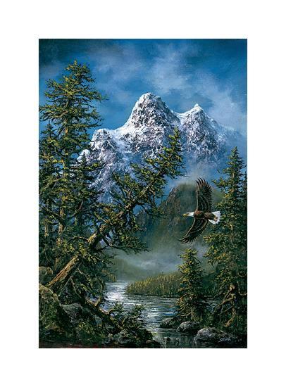 Peaceful Wilderness-Ken Skoda-Art Print