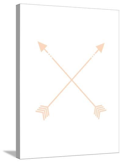 Peach Arrow-Jetty Printables-Stretched Canvas Print