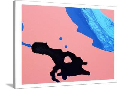 Peach & Black-Deb McNaughton-Stretched Canvas Print