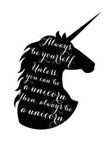 Always Be a Unicorn by Peach & Gold