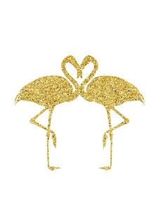 Gold Flamingos by Peach & Gold