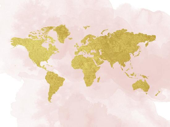 peach-gold-gold-glitter-map