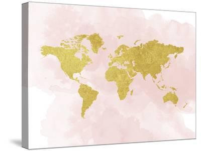 Gold Glitter Map by Peach & Gold
