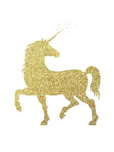 Gold Glitter Unicorn by Peach & Gold