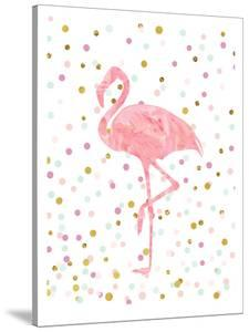 Pink Flamingo on Confetti by Peach & Gold