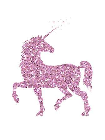 Pink Glitter Unicorn by Peach & Gold
