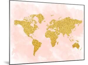 World Map 4 by Peach & Gold