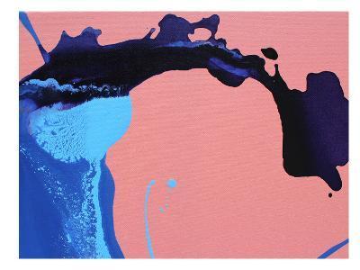 Peach Waves-Deb McNaughton-Art Print