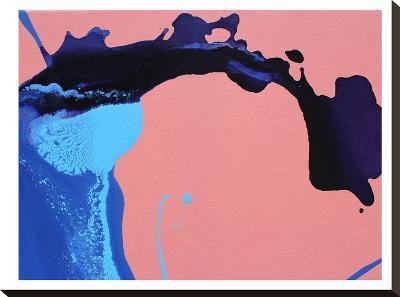 Peach Waves-Deb McNaughton-Stretched Canvas Print