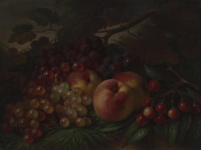 Peaches, Grapes and Cherries, Ca 1860-1870-George Henry Hall-Giclee Print