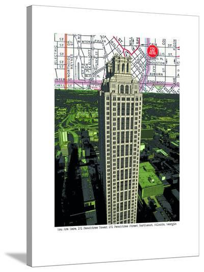 Peachtree Tower--Stretched Canvas Print