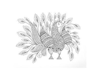 Peacock 7-Neeti Goswami-Art Print
