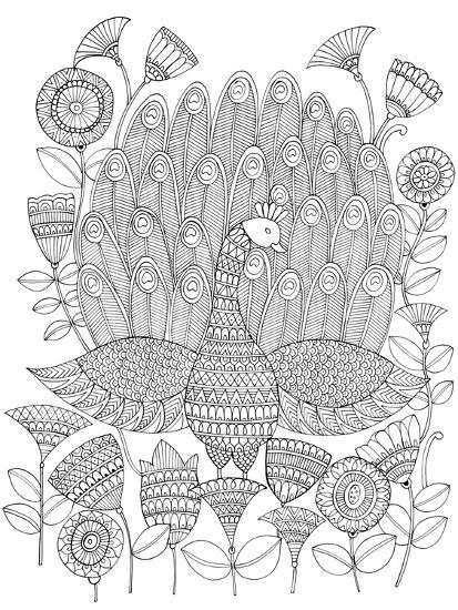 Peacock 8-Neeti Goswami-Art Print