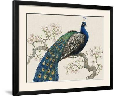 Peacock and Blossoms I-Tim O'toole-Framed Photographic Print