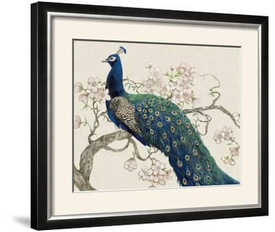 Peacock and Blossoms II-Tim O'toole-Framed Photographic Print