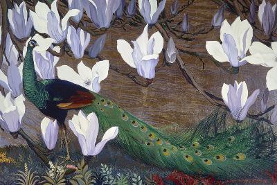 Peacock and Magnolia-Jesse Arms Botke-Art Print