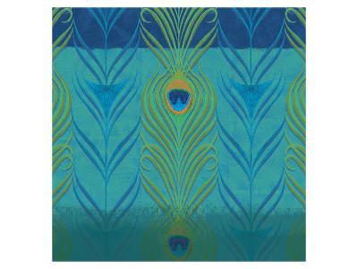 Peacock Bath V-Alan Hopfensperger-Art Print