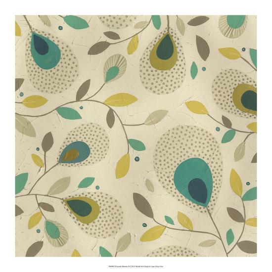 Peacock Blooms II-June Erica Vess-Giclee Print