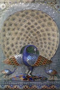 Peacock, Decorative Detail of City Palace, Udaipur, Rajasthan, India